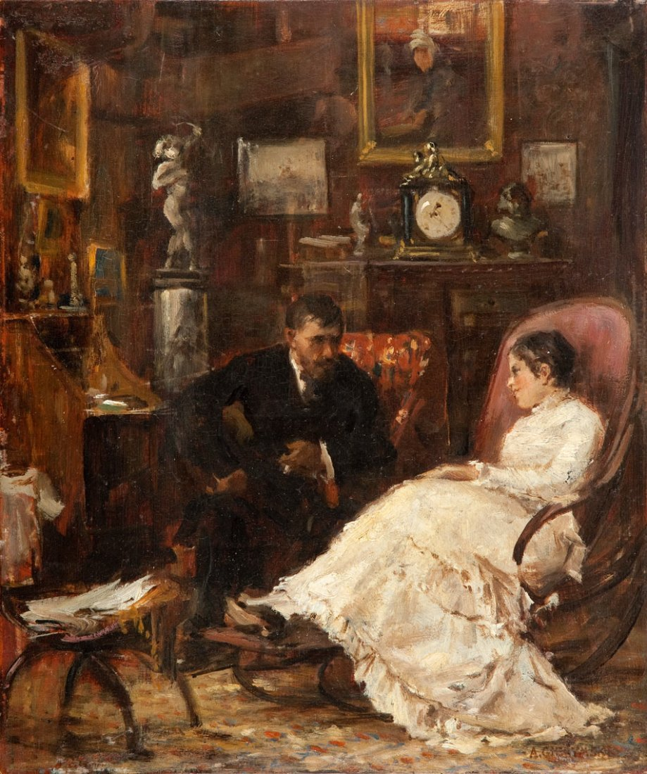 Aleksander Gierymski (1850 Warsaw - 1901 Rome) Dialogue