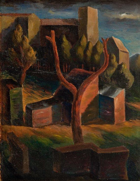 Leonard Pekalski (1896 Grojec - 1944 Warsaw) Landscape,