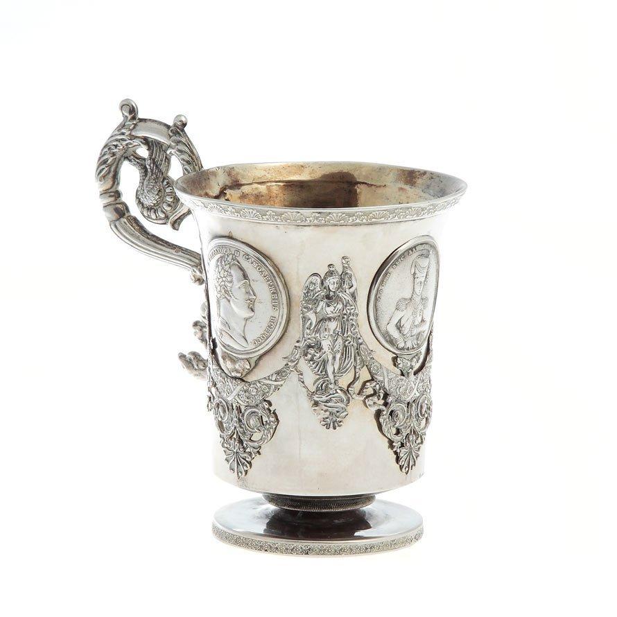 Mug, Moscow, 1838  silver, '84', mass: 331 g, wys.: