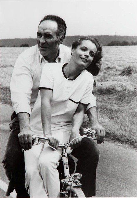 Jean Pierre Fizet (b. 1942)  Romy Schneider & Michel