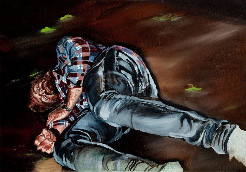 Piotr Szczur  (b. 1987 , Jaslo) Rest, 2013  oil/canvas,