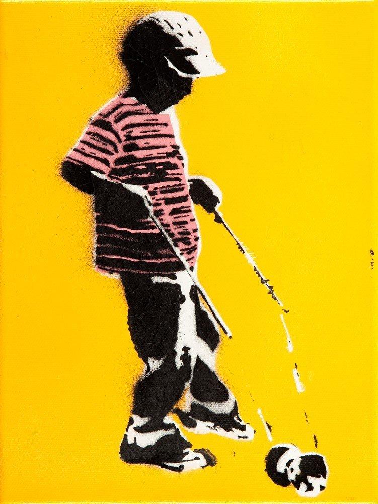 Pan Ziet  Untitled mixed media/canvas, 24 x 18 cm