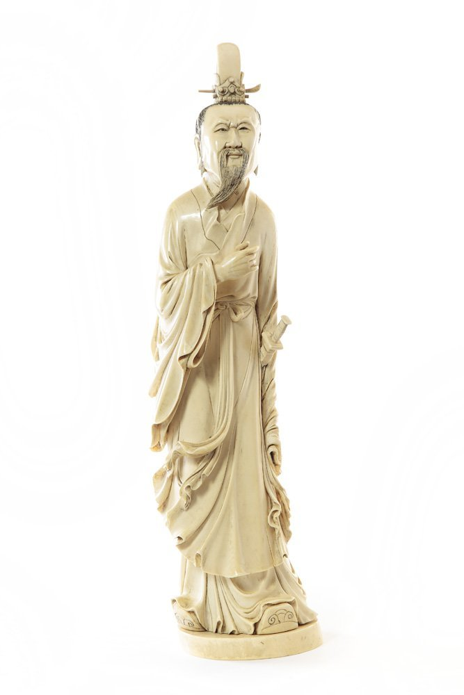 Figurine of Lu Dongbin, XIX/XX c., China Ivory, height