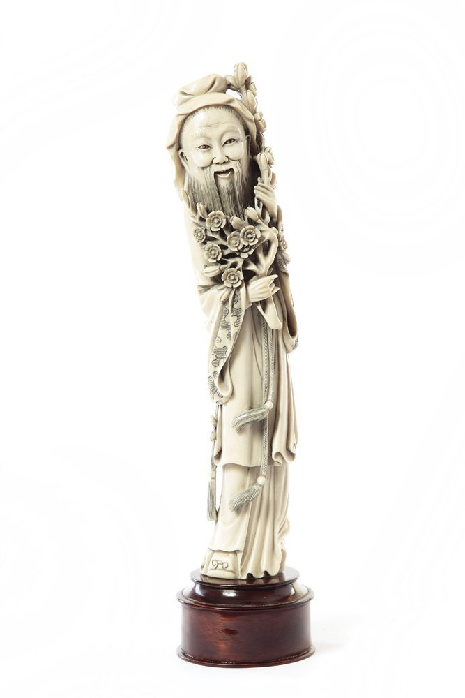 Figurine of Taoist Immortal, XIX/XX c., China Ivory, wo