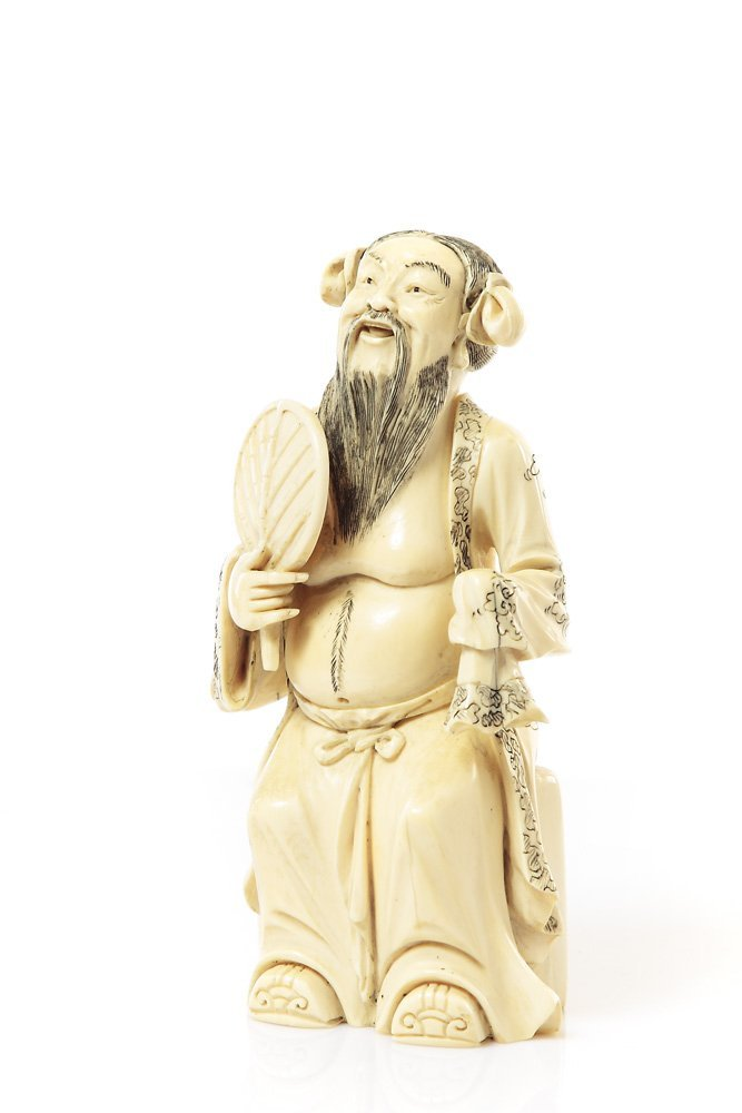 Figurine of Zhongli Quan, XIX/XX c., China Ivory, heigh