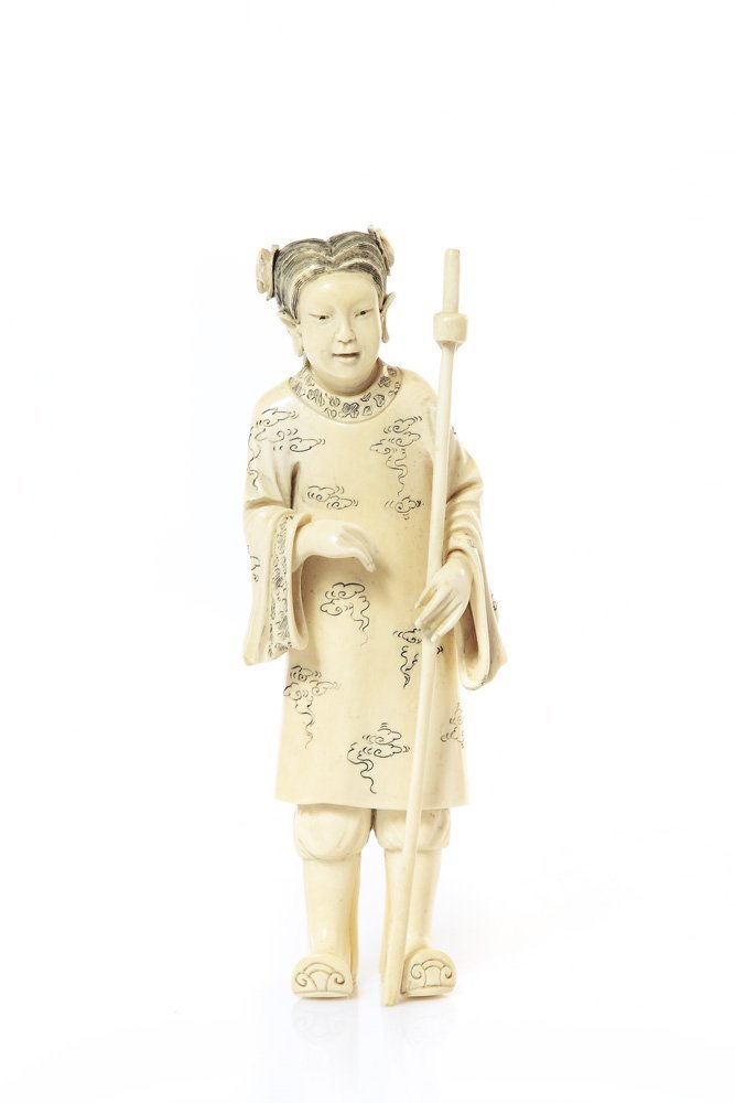 Figurine of Ma Gu, XIX/XX c., China Ivory, height 22 cm