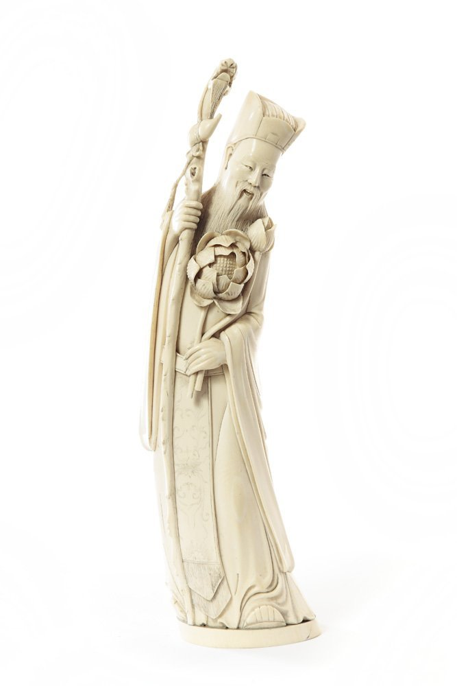 Figurine of Taoist Immortal, XIX/XX c., China Ivory, he