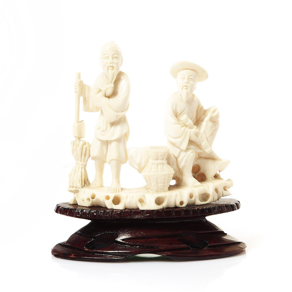 Figurine of Chinese peasants, XIX/XX c., China Ivory, t