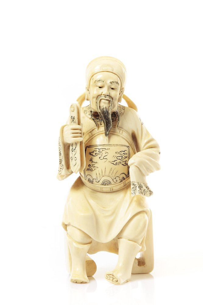 Figurine of Cao Guojiu, XIX/XX c. w., China Ivory, heig
