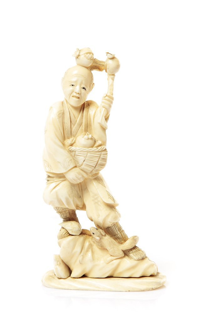 Figurine of gardener, XIX/XX c., China Ivory, height 15