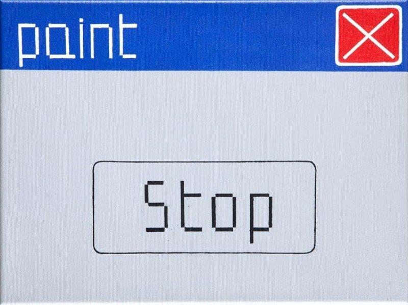 Laura Pawela (b. 1977, Rybnik) Stop, 2004  acrylic na