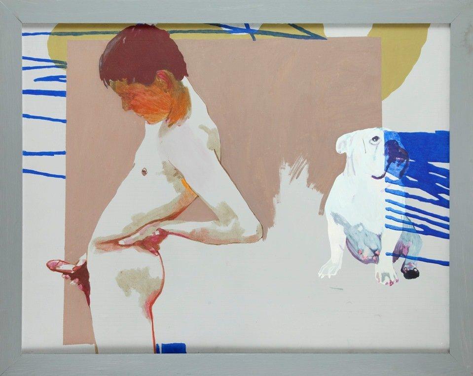 Agnieszka Sandomierz (b. 1978) Boy with a dog, 2004