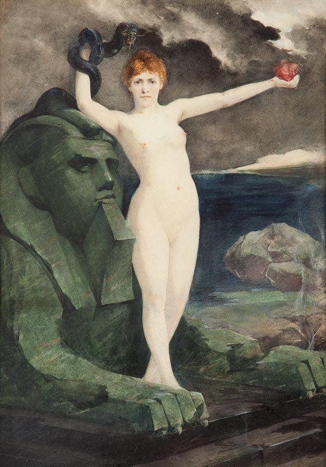 Anton Klamroth (1860 Moskwa - 1929 Lipsk) Sphinx