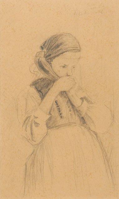 Teodor Axentowicz (1859 Braszow - 1938 Krakow) Girl