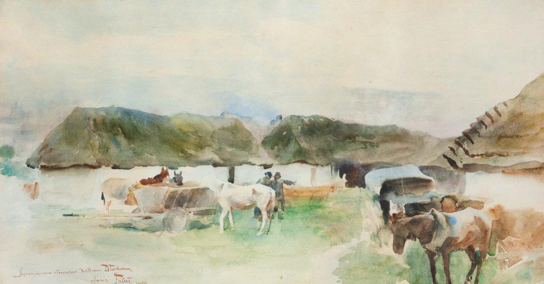 Julian Falat (1853 Tuliglowy - 1929 Bystra) Rest before