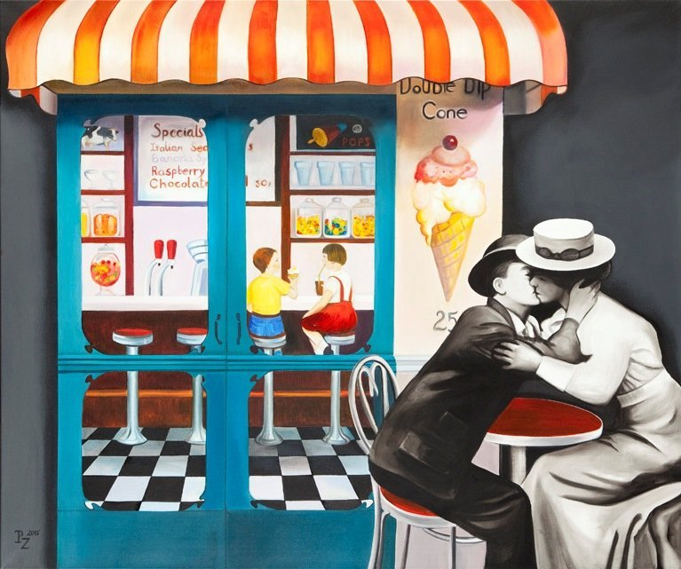 Paulina Zalewska  (b. 1981 , Lodz) Sweet kiss, 2013