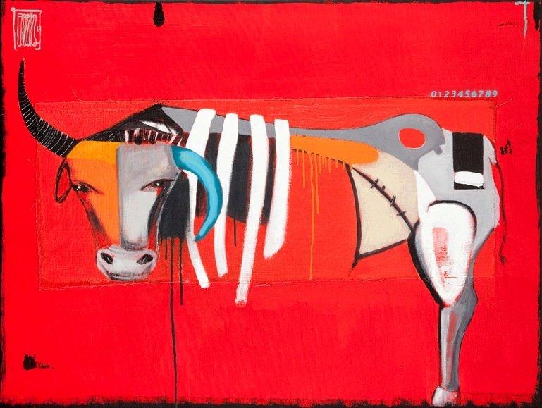 Wojciech Brewka  (b. 1980 , Kalisz) Bull return, 2013