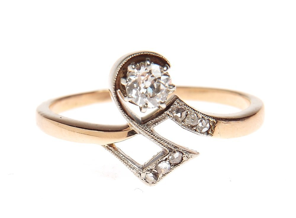Ring with diamond, beginning of 20th century gold ~