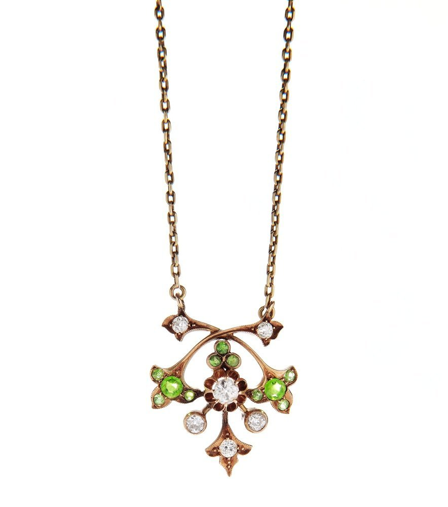 Pendant with chain, 19/20th century gold 0,580, 6