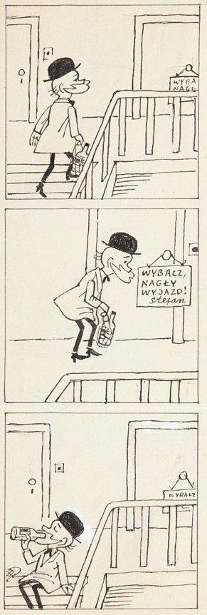 """Zbigniew Lengren  (1919 - 2003) """"Filutek"""", 1991  comic"""