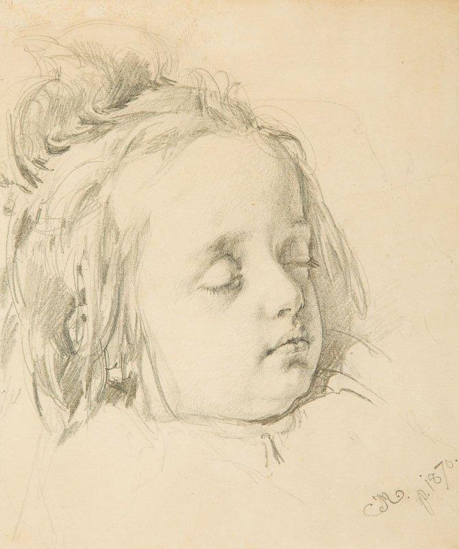 Jan Matejko (1838 Krakow - 1893 Krakow) Portrait of