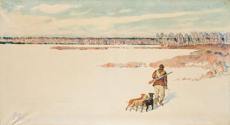 Julian Falat (1853 Tuliglowy - 1929 Bystra) Landscape