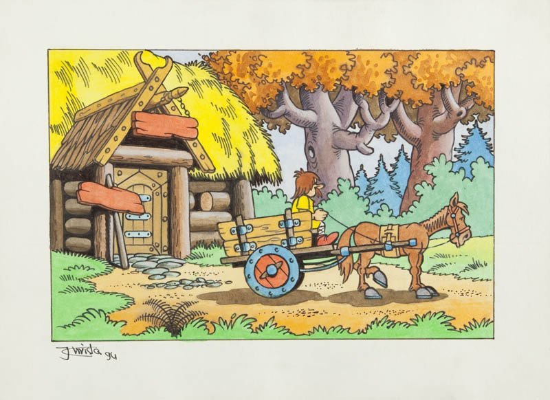 Janusz Christa  (1934 Wilno - 2008 Sopot) illustration