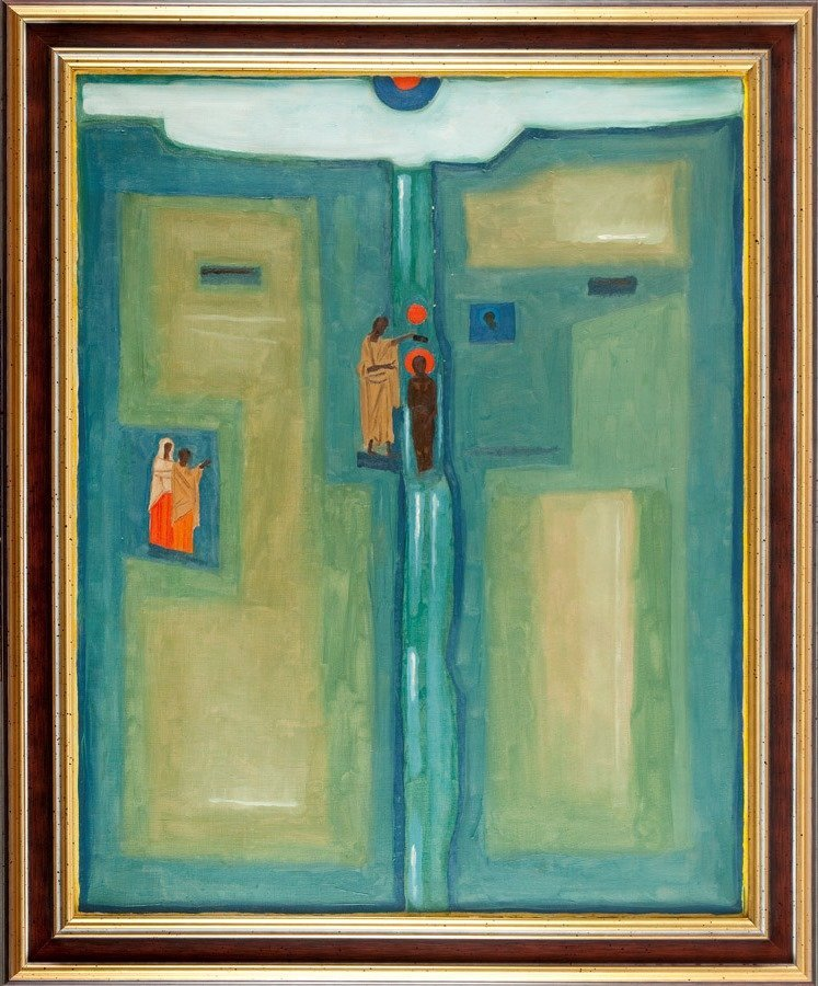"""Jerzy Nowosielski  (1923 Cracow - 2011 Cracow) """"Jordan"""" - 2"""