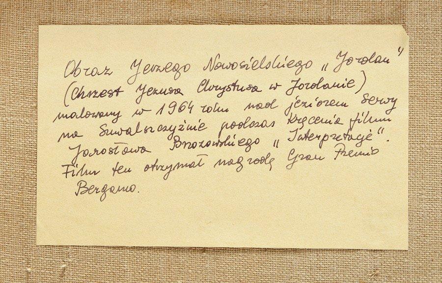 """Jerzy Nowosielski  (1923 Cracow - 2011 Cracow) """"Jordan"""" - 5"""