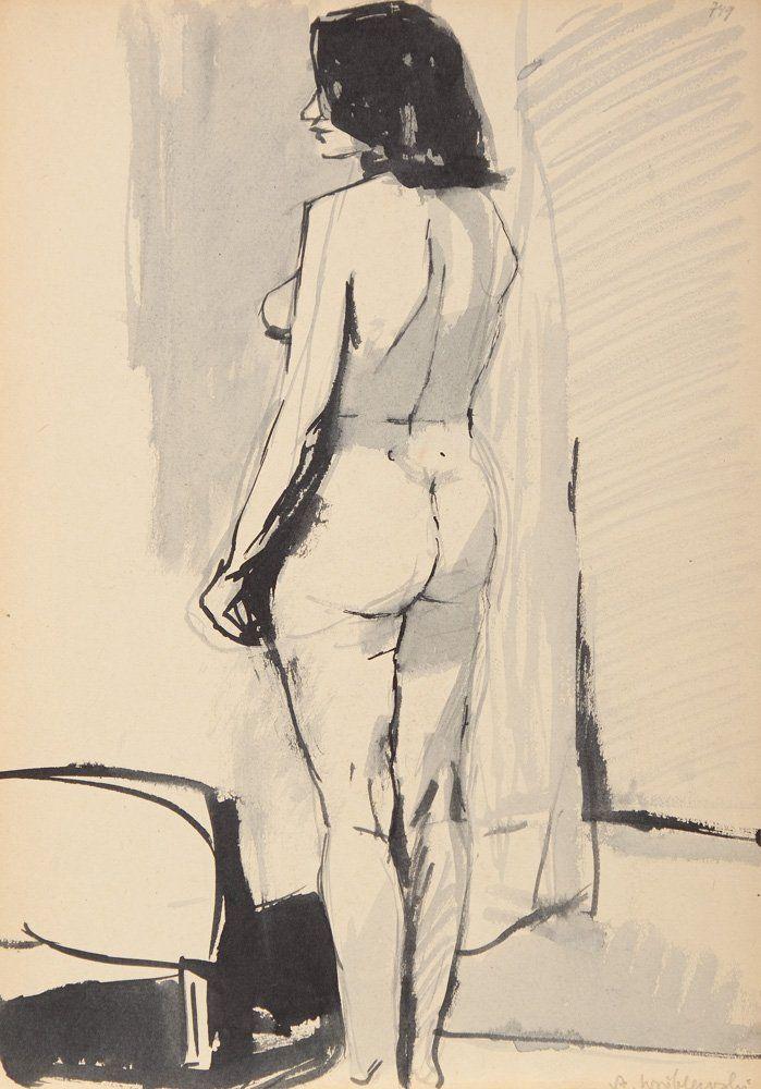 Andrzej Wroblewski (1927 Wilno - 1957 Tatry) Nude
