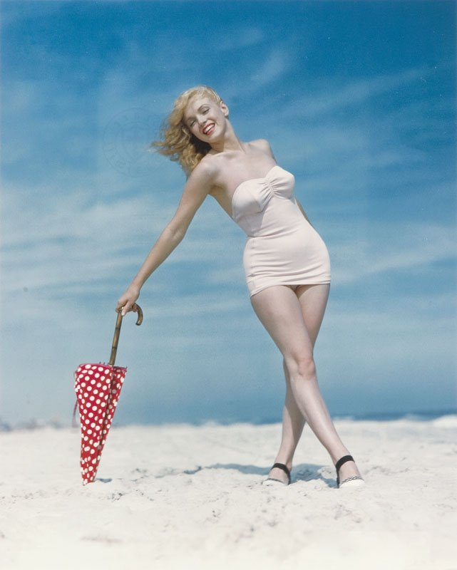 Andre de Dienes, (1913 - 1985), Marilyn Monroe, colour