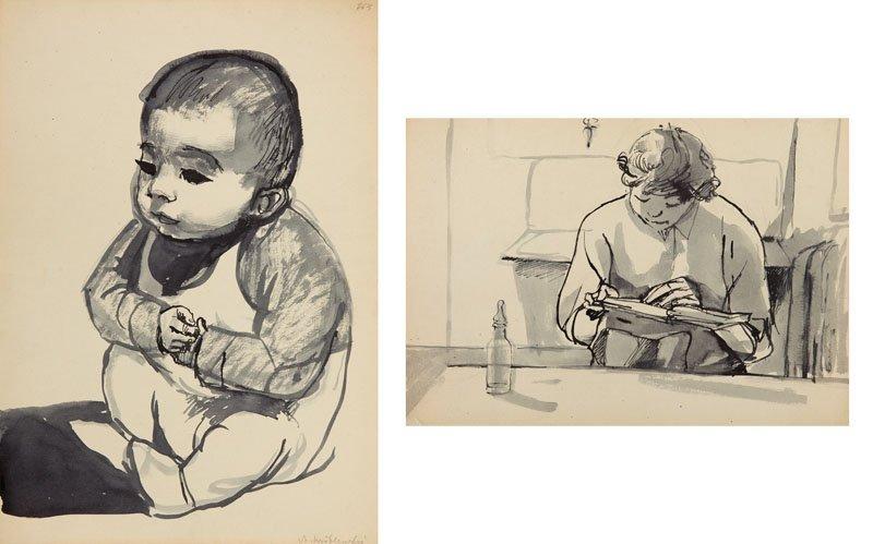 Andrzej Wroblewski (1927 - 1957), Two- sided work: