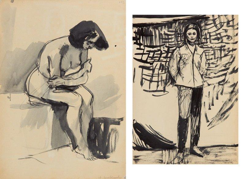 Andrzej Wroblewski (1927 - 1957),Two - sided work :