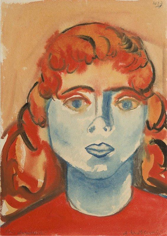 Andrzej Wroblewski (1927 - 1957), (The head of a girl),