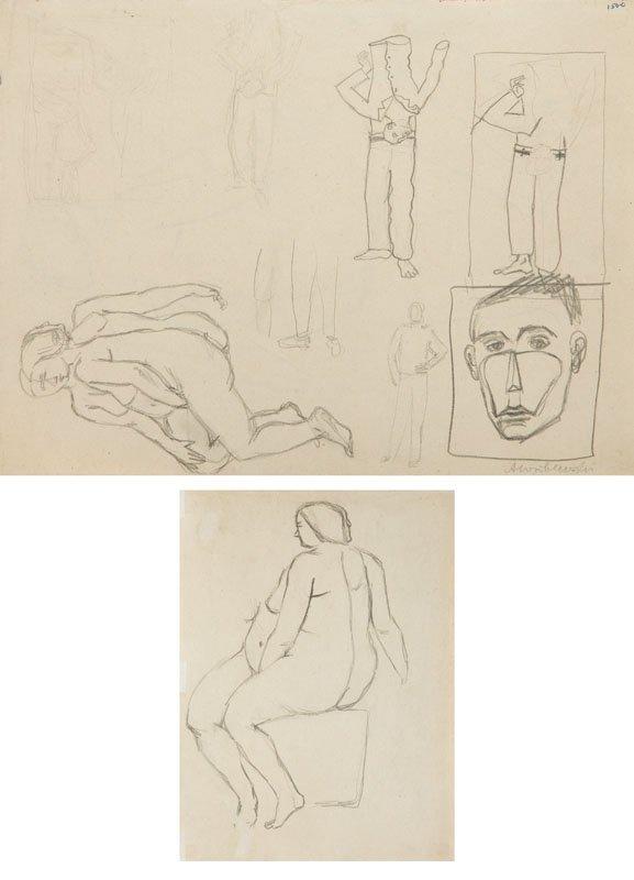 Andrzej Wroblewski (1927 - 1957),Two- sided work: [A