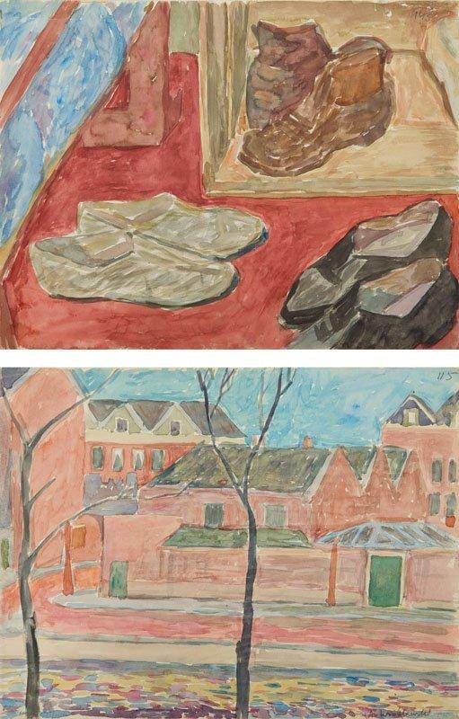 Andrzej Wroblewski (1927 - 1957), [Shoep. Still life nr