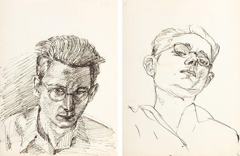Andrzej Wroblewski (1927 - 1957),Two- sided work: [Self