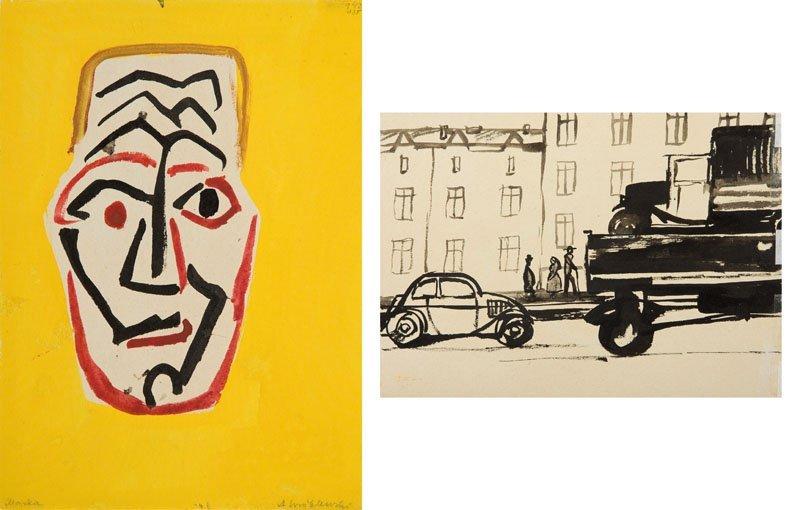 Andrzej Wroblewski (1927 - 1957),(A mask),  At the back