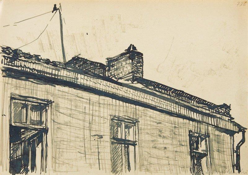 Andrzej Wroblewski (1927 - 1957),[A House nr 736],India