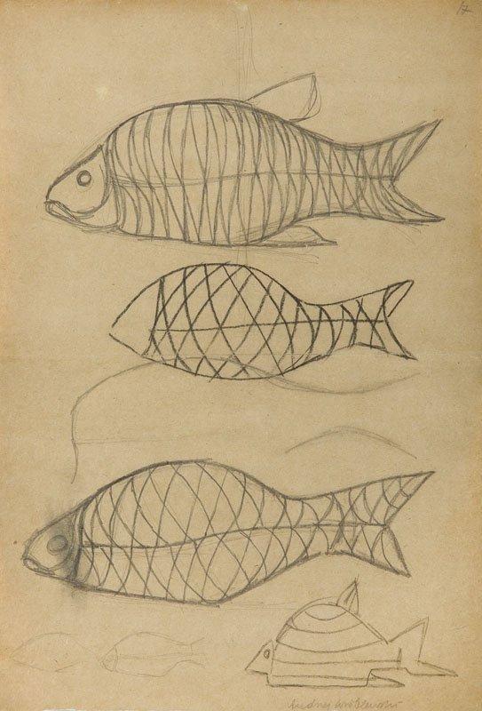 Andrzej Wroblewski (1927 - 1957),[Fishes nr