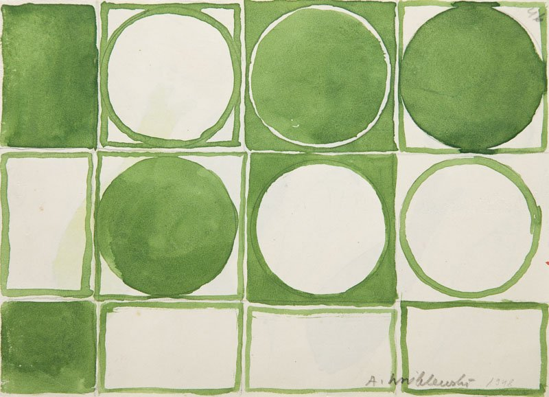 Andrzej Wroblewski (1927 - 1957),[An abstract and green