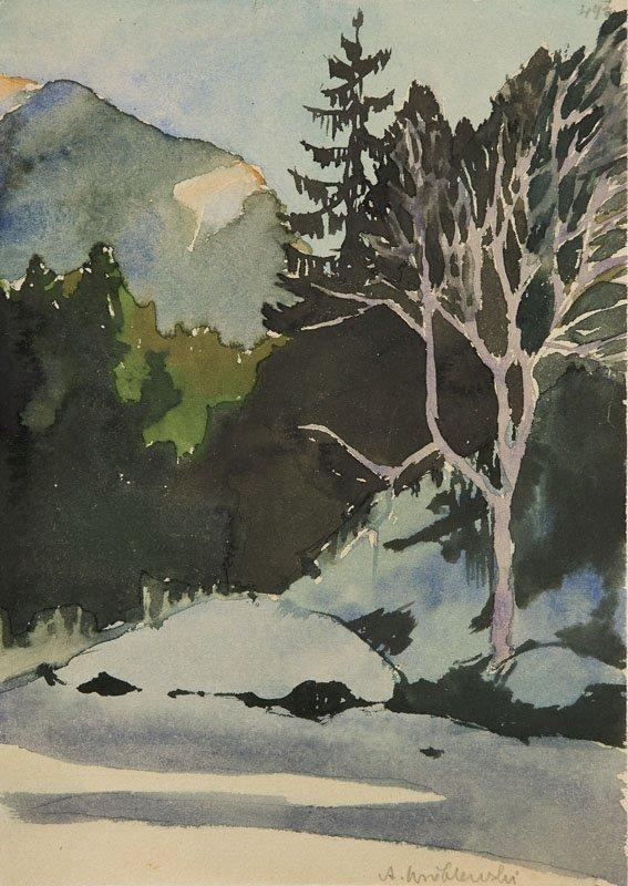 Andrzej Wroblewski (1927 - 1957), [Tatra mountain.