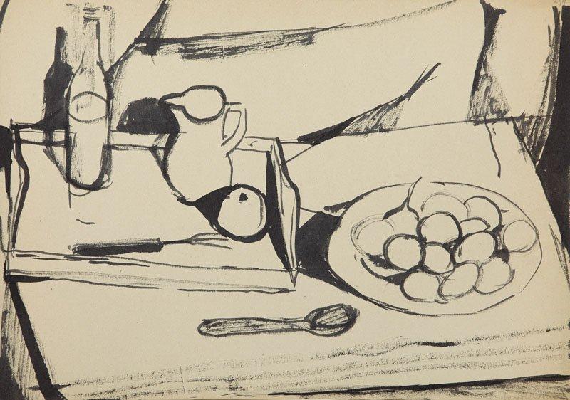 Andrzej Wroblewski (1927 - 1957), [A sketch to still