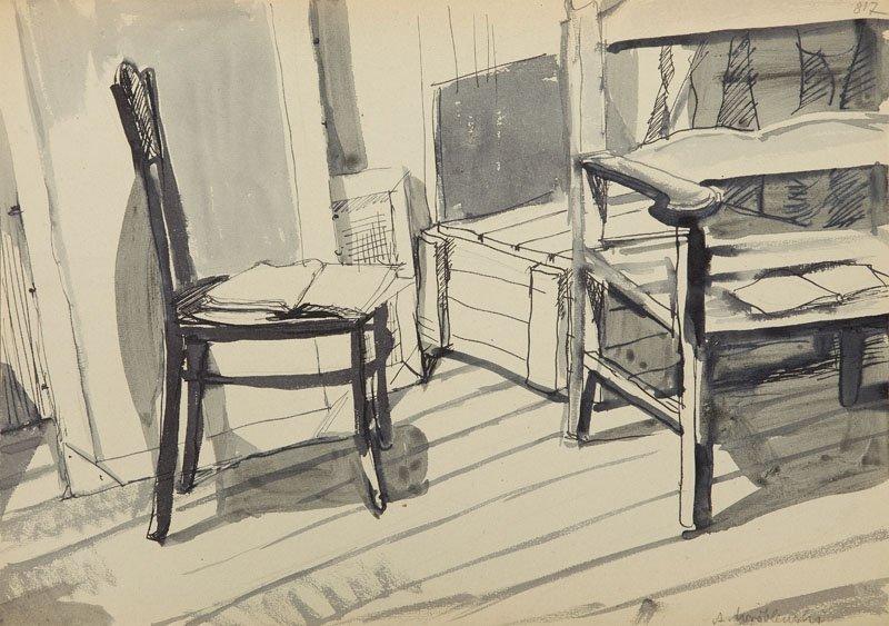 Andrzej Wroblewski (1927 - 1957),[A scrap of a workshop