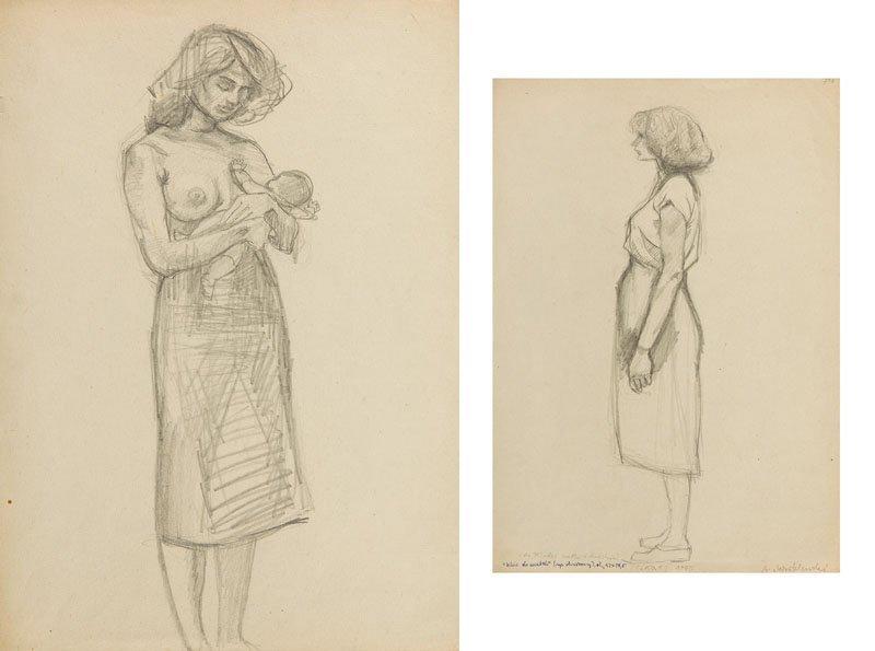 Andrzej Wroblewski (1927 - 1957),[A sketch to a young