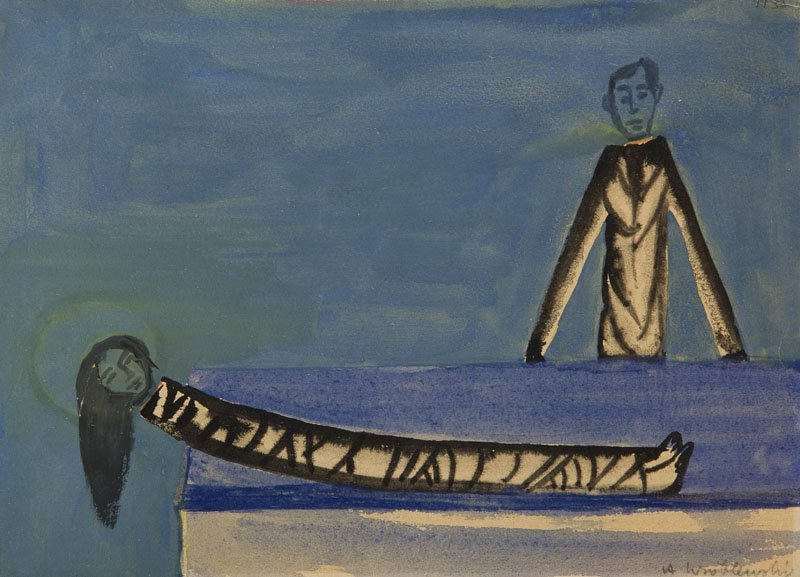Andrzej Wroblewski (1927 - 1957),Figural composition nr