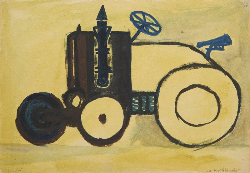 Andrzej Wroblewski (1927 - 1957), [Tractor] at the back