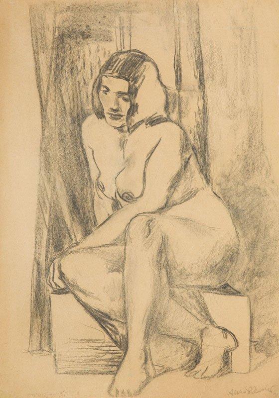 Andrzej Wroblewski (1927 - 1957), [Nude], pencil,