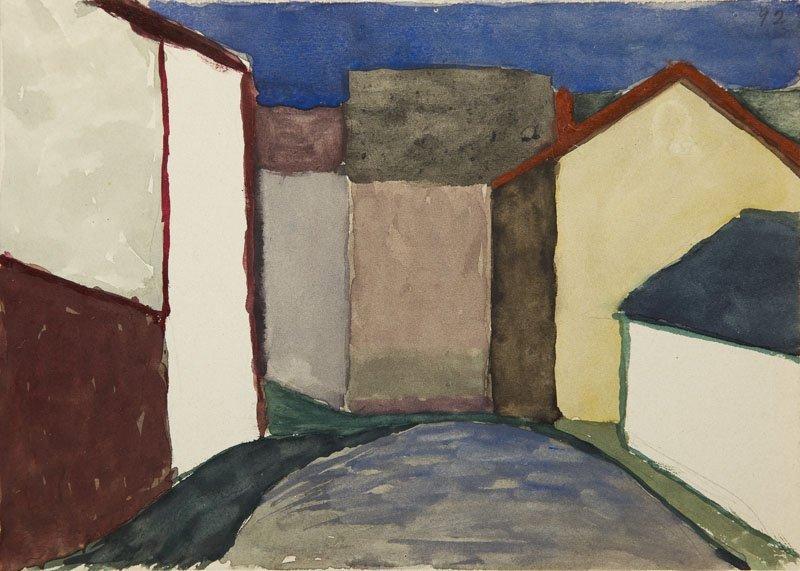 Andrzej Wroblewski (1927 - 1957),[A city landscape nr