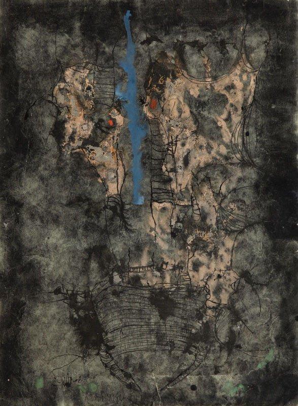 Rajmund Ziemski (1930 - 2005) Composition, 1963,